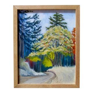 """""""State Land Road"""" Framed Oil Landscape Painting For Sale"""