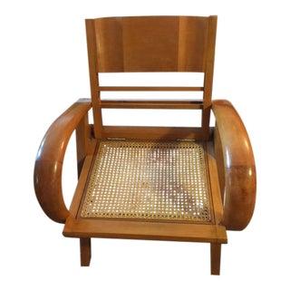 1950's Scandinavian Mid - Century Modern Beechwood Chair For Sale