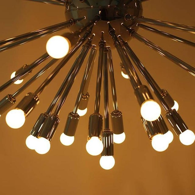 Modern Chrome Multi-Light Sputnik Chandelier For Sale - Image 5 of 5