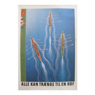 Original 1980's Danish Design Poster, Carlsberg Rowers