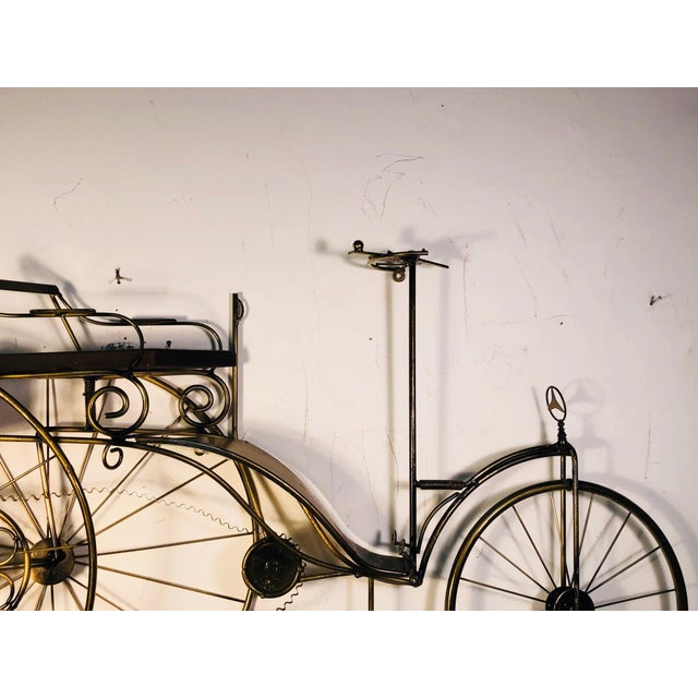 Curtis Jere Large Scale Curtis Jere Bicycle Wall Sculpture For Sale - Image 4 of 10