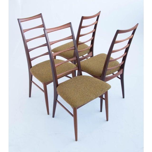 Set of Koefoeds Hornslet Teak Ladder Back Dining Chairs For Sale - Image 10 of 11