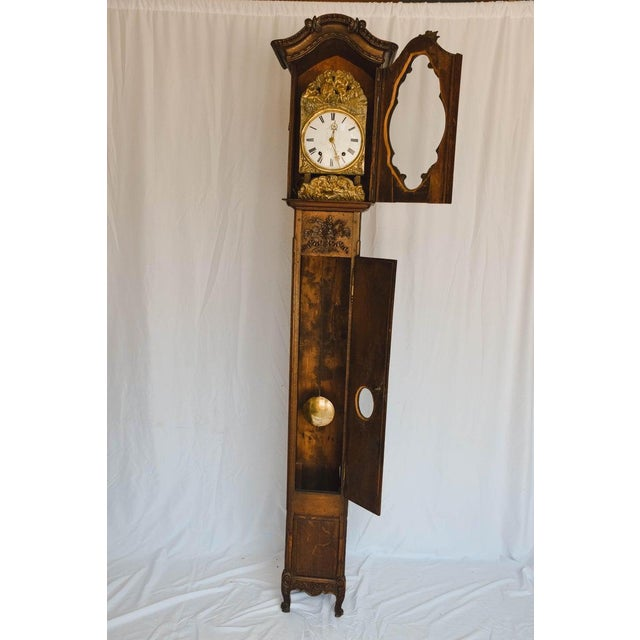 Carved 18th C French Lantern Clock Case With Movement For Sale In Houston - Image 6 of 13