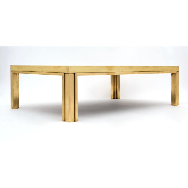 Romeo Rega Brass and Mirror Coffee Table For Sale - Image 9 of 10