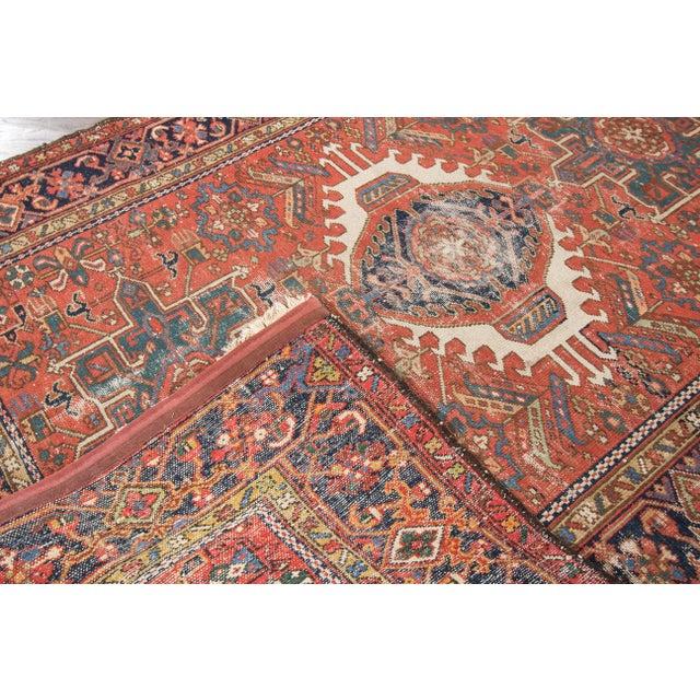 """Antique Heriz Wool Rug- 4'6"""" x 6'3"""" - Image 3 of 7"""