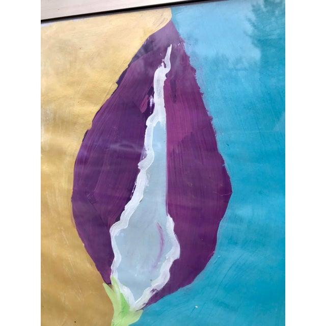1990s Framed Kid Art Painting For Sale - Image 5 of 12