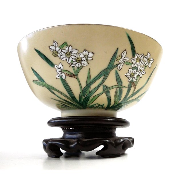 Asian Chinese Porcelain Hand Painted Bowl For Sale - Image 3 of 8