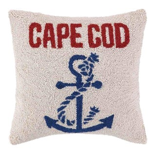 Anchored at Cape Cod Hook Pillow For Sale