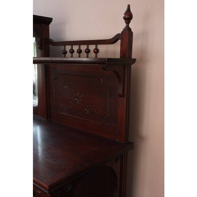 Antique Carved Mahogany Spindle Etagere - Image 3 of 4