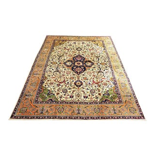 "Vintage Tabriz Persian Carpet, 1920 - 9'5"" x 12'5"""