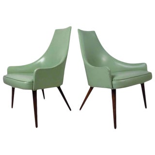 Mid-Century Highback Armchairs - a Pair For Sale
