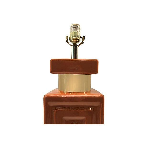 Copper & Gold Geometric Lamp - Image 3 of 5