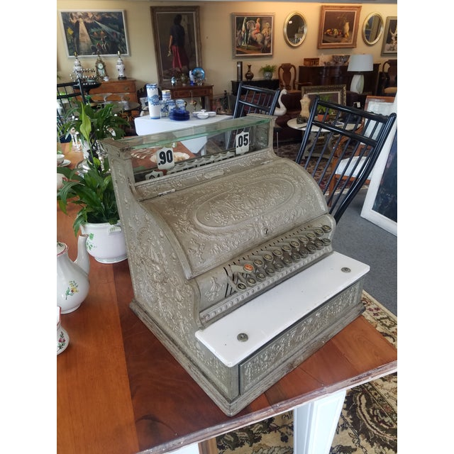 19th Century Neoclassical Iron Cash Register For Sale - Image 9 of 9