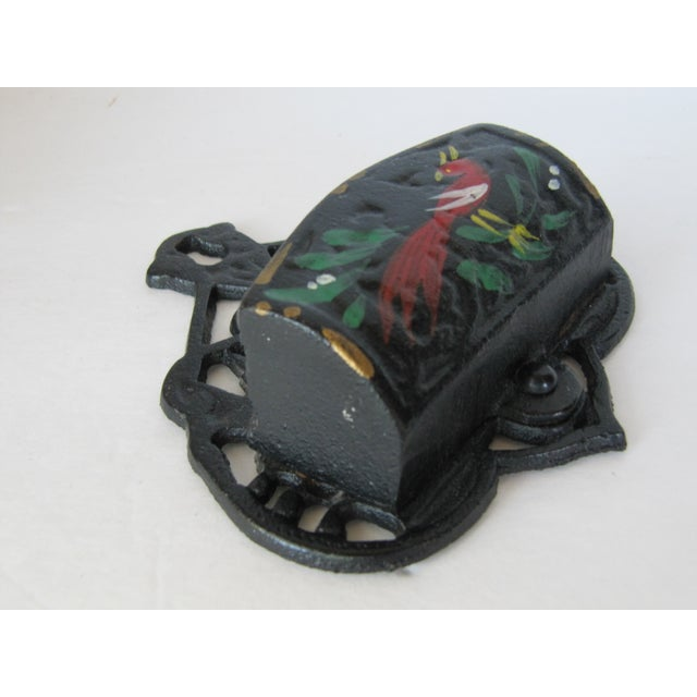 Black Iron Match Safe with Rooster - Image 5 of 5