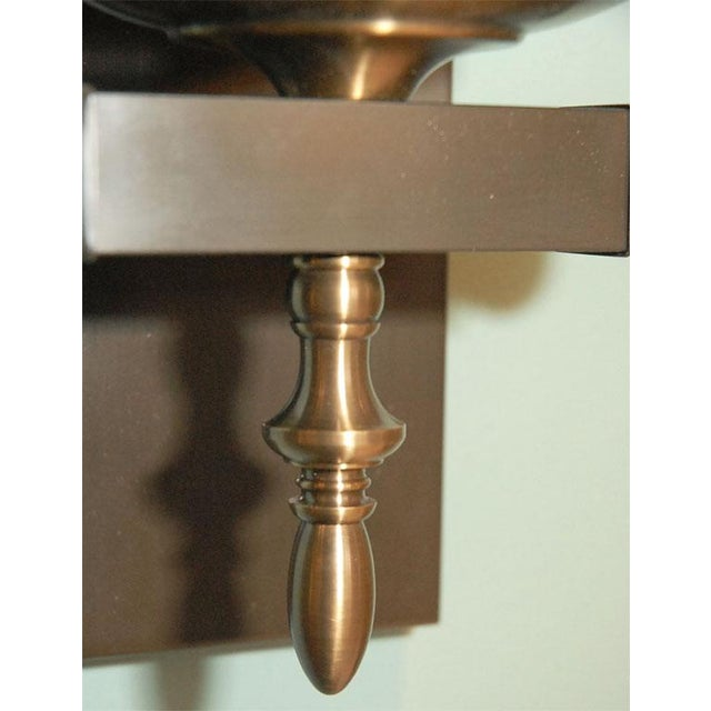 Paul Marra Design Traditional Hurricane Sconces - a Pair For Sale In Los Angeles - Image 6 of 7