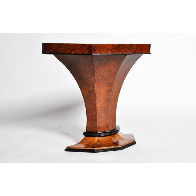 Art Deco Pedestal Console Table For Sale In Chicago - Image 6 of 11