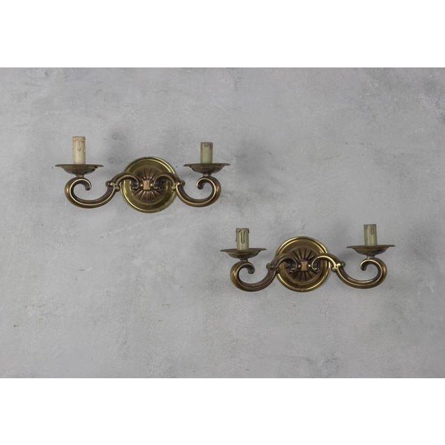 Pair of French Gilt Bronze Sconces - Image 2 of 11