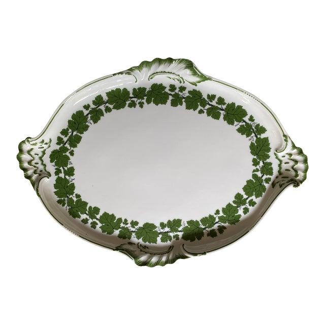 Vintage 1950s Meissen Porcelain Grape Vine Scalloped Platter For Sale