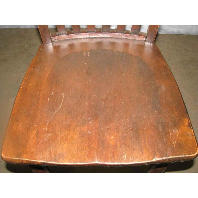 Oak Original Antique Dark Oak Chair For Sale - Image 7 of 9
