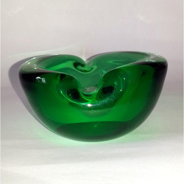 Murano Vintage Murano Curled Leaf Dish For Sale - Image 4 of 11