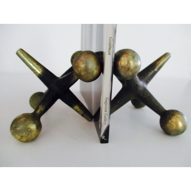 Cast Iron Jacks Bookends Bill Curry Mid Century - Image 5 of 11