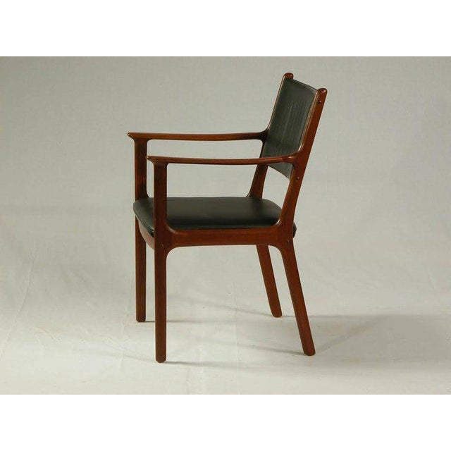 Comfortable Ole Wanscher model PJ 412 mahogany armchair. The comfortable armchair has been overlooked and refinished by...