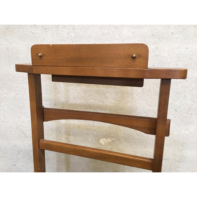 Italian Cherry Valet Stand Dressboy in the Manner of Fratelli Reguitti, 1960s For Sale - Image 9 of 13