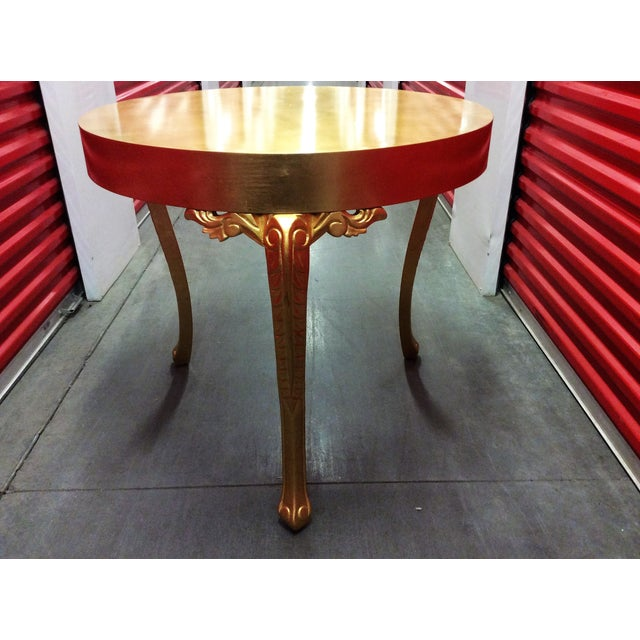 Gold Round Entry Table - Image 9 of 9