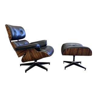 Mid Century Modern Style Lounge Chair and Ottoman For Sale