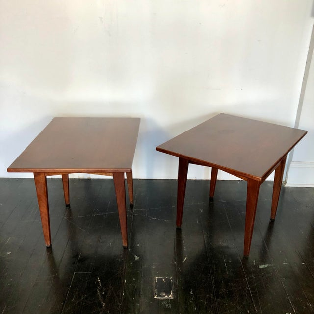 Jens Risom Walnut Side Tables - a Pair For Sale - Image 13 of 13