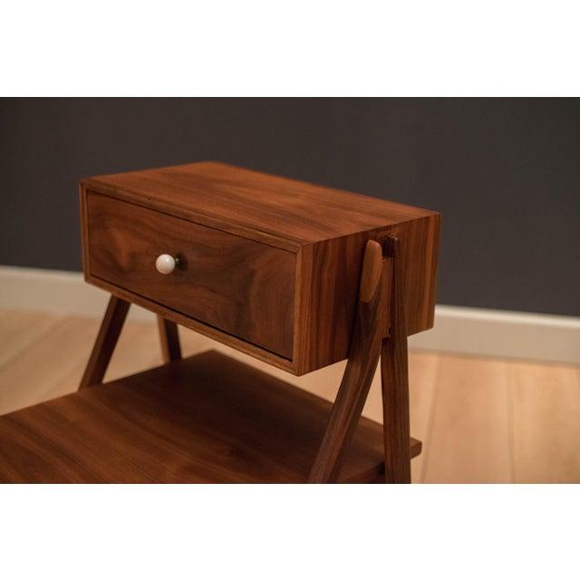 Drexel Mid Century Walnut Floating Nightstands by Drexel Declaration For Sale - Image 4 of 13