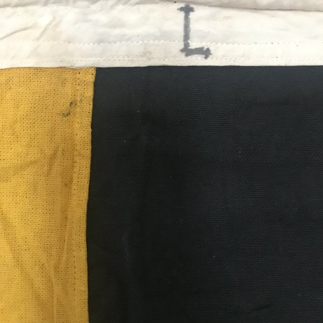 "Vintage Nautical Flag ""L"" For Sale - Image 4 of 5"