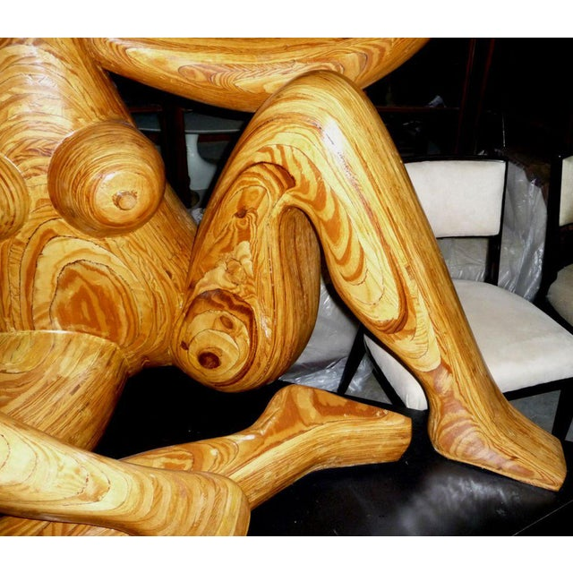Illustration Monumental Carved Wood Nude Sculpture by Hy Farber For Sale - Image 3 of 8