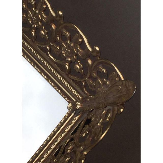 Rectangular Filigree Detail Vanity Mirrored Tray - Image 4 of 5