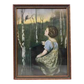 "1925 ""Spring Song"" Simon Glucklich Art Deco Frame Print For Sale"