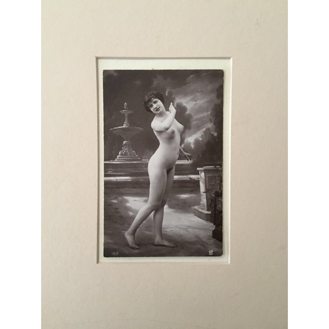 Antique French Studio Nude Female Photograph C1900 For Sale