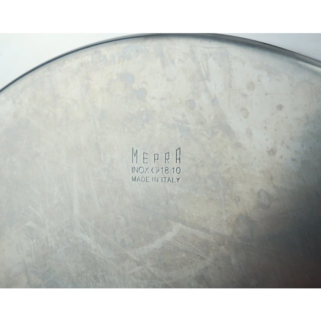 Mepra Italian Stainless Steel & Glass Postmodern Cruet Set For Sale - Image 10 of 11