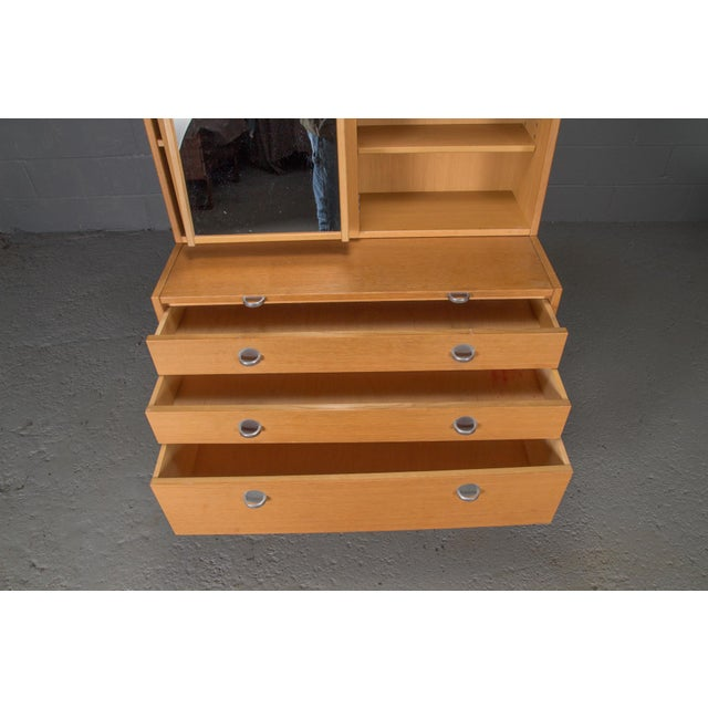 Danish Modern Oak Bookcase Unit and Chest For Sale In Boston - Image 6 of 9
