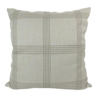 Custom Linen Woven Plaid Pillow For Sale