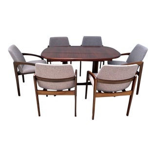 Danish Rosewood Dining Set - 7 Pieces For Sale