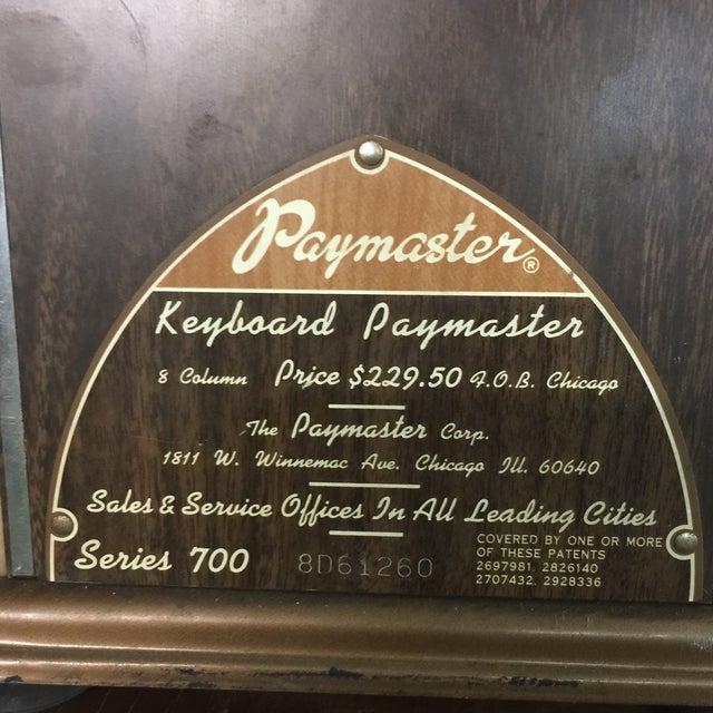 Vintage Paymaster 700 Check Writer - Image 7 of 9