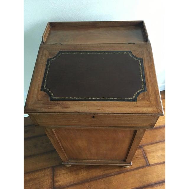 Antique British Colonial Davenport/Captain's Desk For Sale - Image 9 of 10