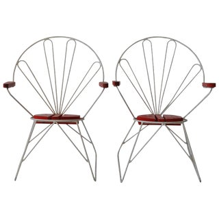 Pair of Swedish Garden Chairs For Sale