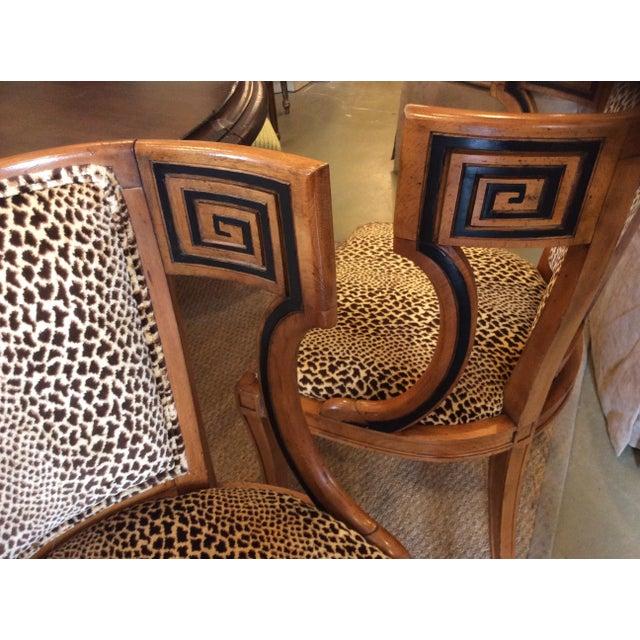 Biedermeier Style Greek Key Side Chairs A Pair Chairish