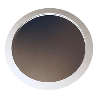 Large Round Laminate Mirror- Ca. 1980's