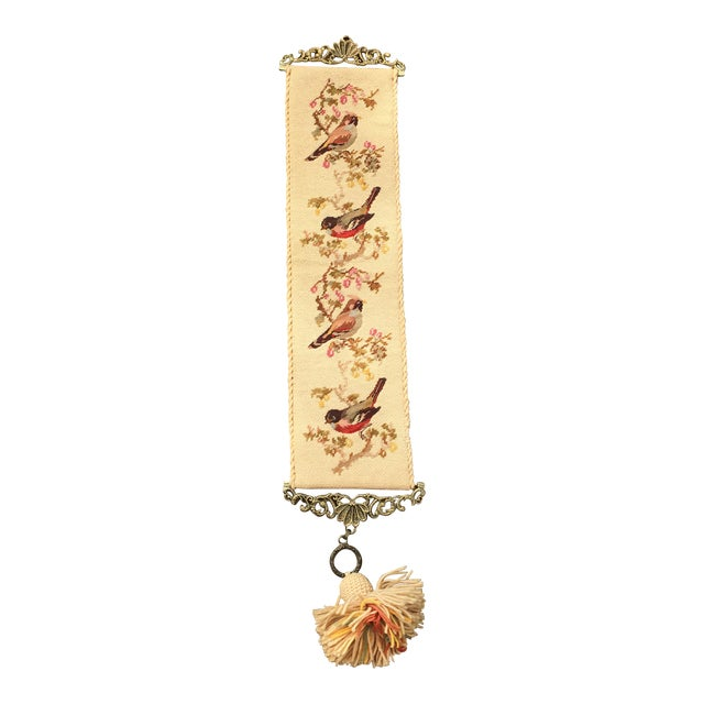 Vintage Embroidered Bird Wall Hanging - Image 1 of 10