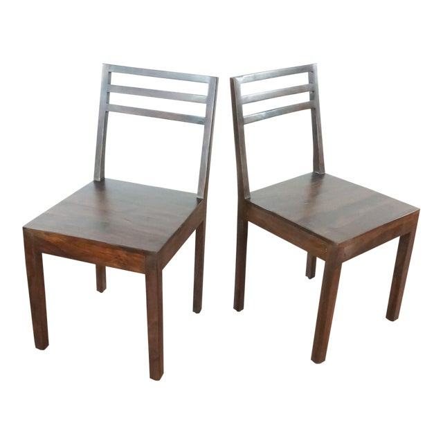Contemporary Monterey Crafts Justo Dining Chairs - a Pair For Sale
