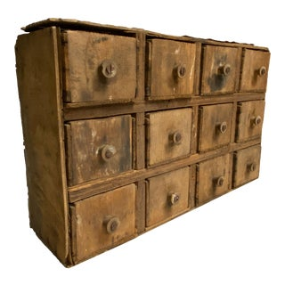 19th Century Early American Primitive Apothecary Box For Sale