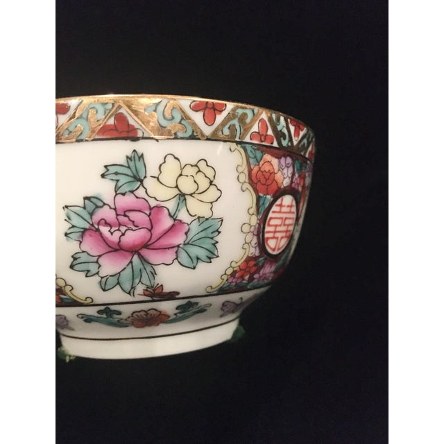 Hand Painted Chinoiserie Bowl For Sale - Image 4 of 9