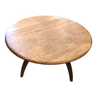 1950s Mid-Century Modern Heywood Wakefield Lazy Susan Spider Leg Coffee Table For Sale